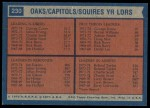 1974 Topps #230   -  Jim Eakins / Roland Taylor / George Irvine / George Carter Squires Leaders Back Thumbnail