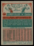 1973 Topps #34  Leroy Ellis  Back Thumbnail
