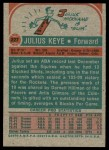 1973 Topps #227  Julius Keye  Back Thumbnail