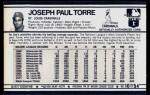 1972 Kellogg's #10  Joe Torre  Back Thumbnail