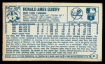 1979 Kellogg's #11  Ron Guidry  Back Thumbnail