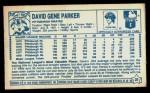 1979 Kellogg's #21  Dave Parker  Back Thumbnail