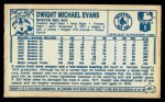 1979 Kellogg's #41  Dwight Evans  Back Thumbnail