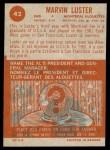 1963 Topps CFL #42  Marv Luster  Back Thumbnail