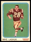 1963 Topps CFL #22  Mike Lashuk  Front Thumbnail