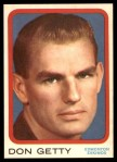 1963 Topps CFL #24  Don Getty  Front Thumbnail