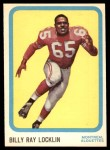 1963 Topps CFL #44  Billy Ray Locklin  Front Thumbnail
