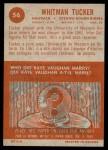1963 Topps CFL #56  Whit Tucker  Back Thumbnail