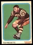 1963 Topps CFL #26  Ted Frechette  Front Thumbnail