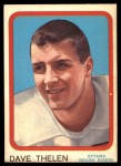1963 Topps CFL #52  Dave Thelen  Front Thumbnail