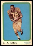 1963 Topps CFL #27  E.A. Sims  Front Thumbnail