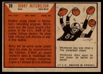 1965 Topps CFL #38  Barry Mitchelson  Back Thumbnail