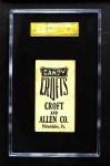 1909 E92 Croft's Candy  Bill O'Hara  Back Thumbnail