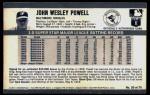 1971 Kellogg's #20  Boog Powell  Back Thumbnail