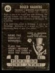 1964 Topps CFL #82   -  Roger Hagberg   Back Thumbnail