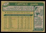 1980 Topps #121  Wayne Stephenson  Back Thumbnail