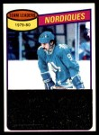 1980 Topps #238   -  Real Cloutier Nordiques Leaders Front Thumbnail