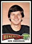 1975 Topps #160  Ken Anderson  Front Thumbnail
