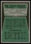 1975 Topps #381  Mack Herron  Back Thumbnail