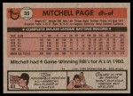 1981 Topps #35  Mitchell Page  Back Thumbnail