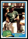 1981 Topps #35  Mitchell Page  Front Thumbnail