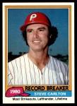 1981 Topps #202   -  Steve Carlton Record Breaker Front Thumbnail