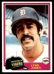 1981 Topps #337  Lynn Jones  Front Thumbnail