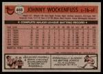 1981 Topps #468  John Wockenfuss  Back Thumbnail