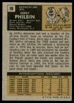 1971 Topps #98  Gerry Philbin  Back Thumbnail