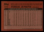 1982 Topps Traded #49 T Fergie Jenkins  Back Thumbnail