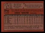 1982 Topps Traded #106 T Eric Show  Back Thumbnail