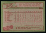 1985 Topps #257  Brian Little  Back Thumbnail