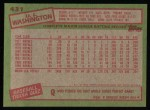 1985 Topps #431  U.L. Washington  Back Thumbnail