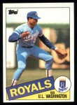 1985 Topps #431  U.L. Washington  Front Thumbnail