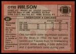 1983 Topps #41  Otis Wilson  Back Thumbnail