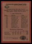 1983 Topps #260   -  Gerald Willhite / Steve Watson / Aaron Kyle / Barney Chavous / Randy Gradishar Broncos Leaders Back Thumbnail