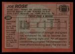 1983 Topps #320  Joe Rose  Back Thumbnail