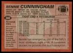1983 Topps #360  Bennie Cunningham  Back Thumbnail