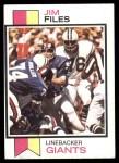 1973 Topps #49  Jim Files  Front Thumbnail