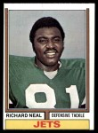 1974 Topps #468  Richard Neal  Front Thumbnail