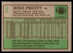 1984 Topps #60  Mike Pruitt  Back Thumbnail