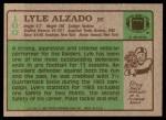 1984 Topps #100  Lyle Alzado  Back Thumbnail