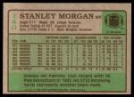 1984 Topps #140  Stanley Morgan  Back Thumbnail