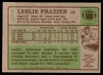1984 Topps #223  Leslie Frazier  Back Thumbnail