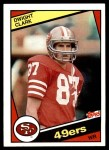 1984 Topps #351  Dwight Clark  Front Thumbnail