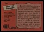 1987 Topps #76  Dexter Manley  Back Thumbnail