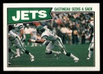 1987 Topps #126   -  Freeman McNeil / Al Toon / Jerry Holmes / Bobby Humphrey / Joe Klecko / Kyle Clifton Jets Leaders Front Thumbnail