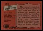 1987 Topps #193  Max Montoya  Back Thumbnail