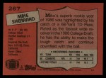 1987 Topps #267  Mike Sherrard  Back Thumbnail