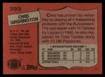 1987 Topps #393  Chris Washington  Back Thumbnail